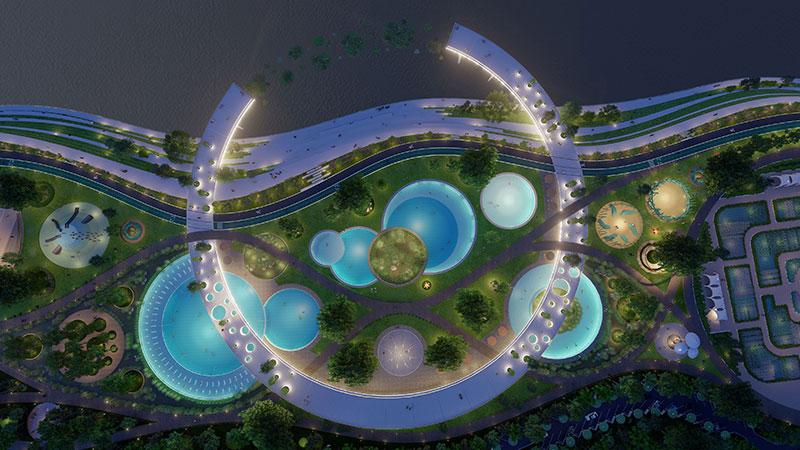 韩国蚕室区汉江市民公园天然游泳